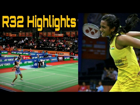 PV Sindhu HIGHLIGHTS BEST POINTS - BWF Yonex Badminton India Open 2017 (R32) | Nice Camera Angle