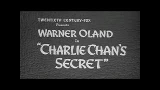 Charlie Chan's Secret - 1936 [Crime] [Comedy]