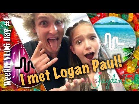 I Met Logan Paul Weekly Vlog Day 1
