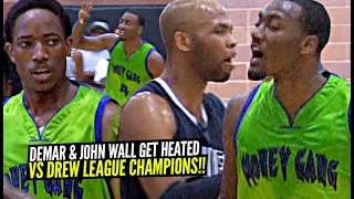 John Wall & DeMar DeRozan Get CHALLENGED By Drew League Champions & Then This Happened!
