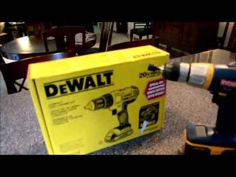 DeWalt 20-Volt Max Lithium-Ion Cordless Drill/Driver Kit Unboxing & Review