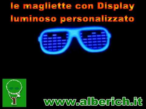 alberich magliette con display luminoso.avi