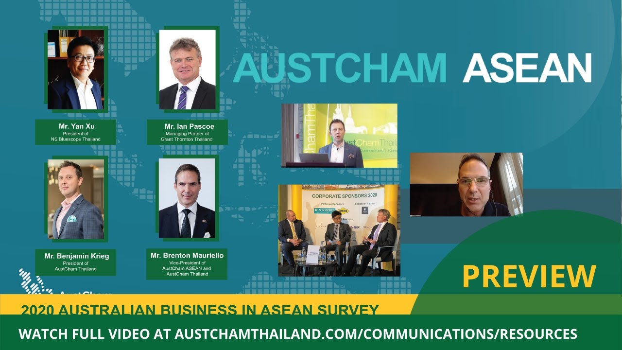 2020 Australian Business In Asean Survey Focus On Thailand Preview Youtube
