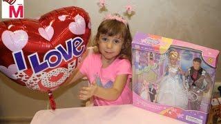 влог видео для детей обзор и распаковка набор кукол жених и невеста Барби и Кен барби кукла невеста