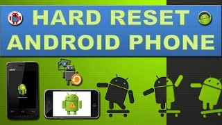 How to hard reset any android device?