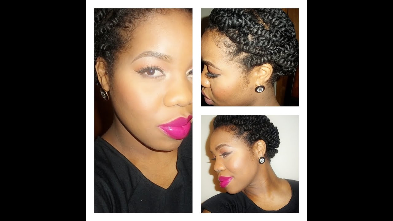 Simple Twist Styles For Natural Hair : Quot natural hair easy protective style for two strand twist