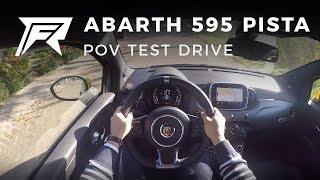 2017 Abarth 595 1.4 T-Jet 160 Pista - POV Test Drive (no talking, pure driving)