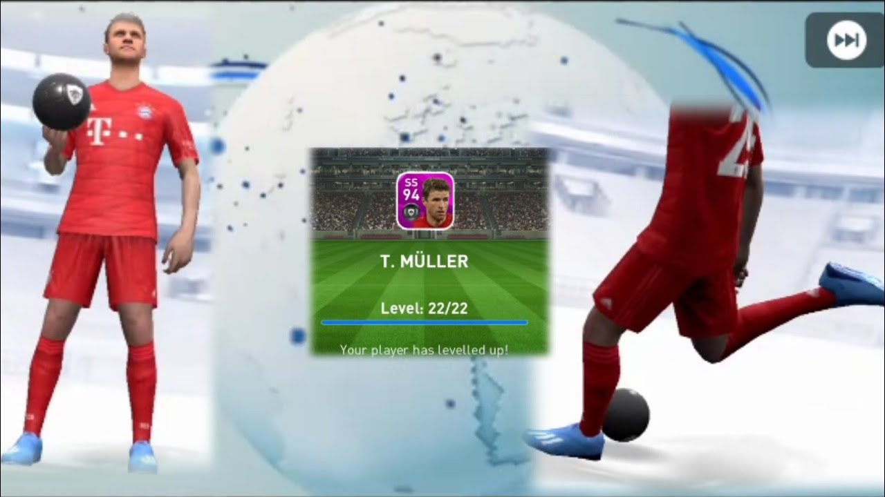 Muller Max Level Rating in Club selection Fc Bayern Munchen/Pes Mobile 2020  - YouTube