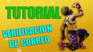 TUTORIAL VERIFICACION DE CORREO | Fortnite