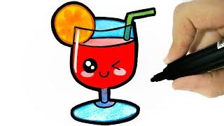 HOW TO DRAW A CUTE DRINK - COMO DESENHAR UMA BEBIDA KAWAII