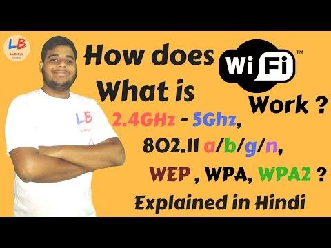 [HINDI] How does WiFi Work ? | Learn about 802.11/a/b/g/n, WEP, WPA, WPA - 2 | Logical Broadcast