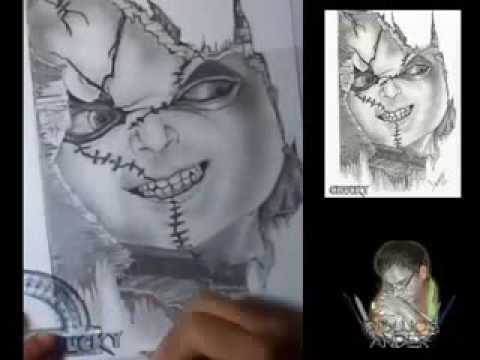 Dibujo A Lápiz De Chucky Youtube