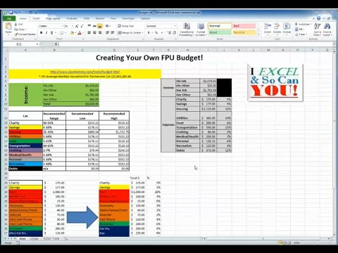 create your own monthly budget in excel youtube