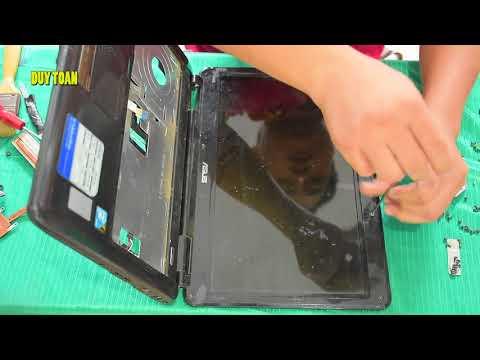 Open The Laptop Replacement Laptop Asus XA8IJ - Mở Vệ Sinh Thay Bản Lề Laptop Asus X8AIJ