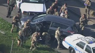 RAW VIDEO: Police chase across Houston in morning rush hour ends in SWAT take down of suspect