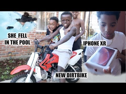 I BOUGHT THE KIDS A DIRTBIKE & SURPRISED NEW KID WITH IPHONE XR
