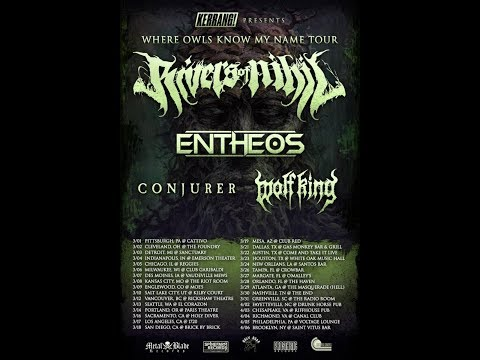 RIVERS OF NIHIL North American Headlining Tour With Entheos, Conjurer, And Wolf King
