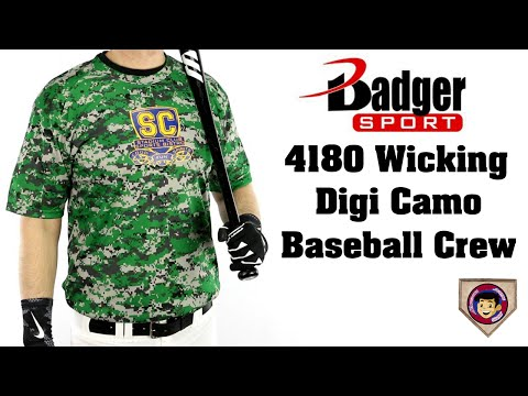 Badger 4180 Digital Camo Baseball Tee - Homegrown Sporting Goods