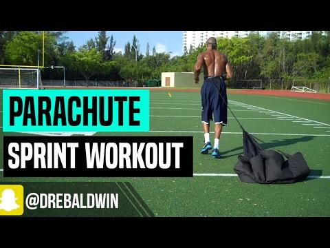 Dynamic Warmup & Speed Parachute Sprint Workout   Dre Baldwin