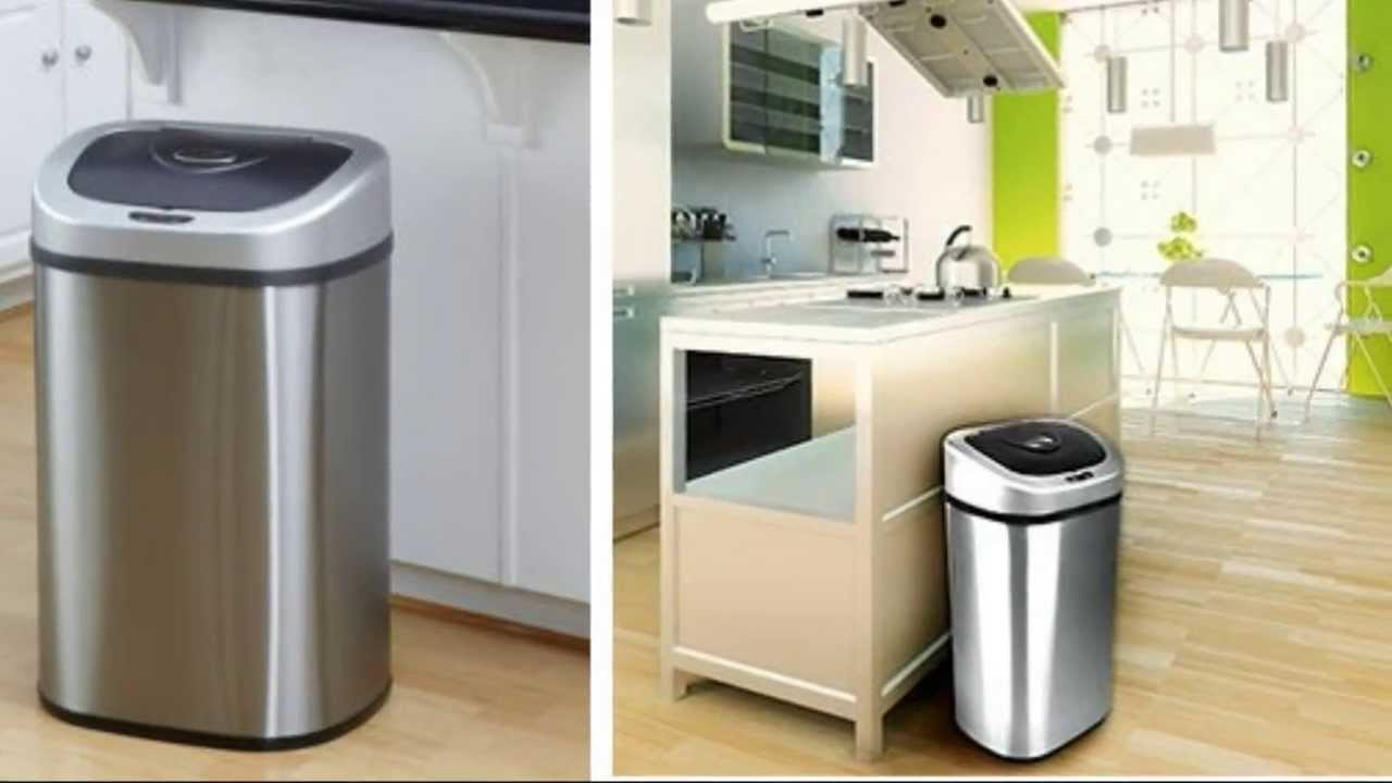 review - nine stars automatic trash can set of 2, touchless motion