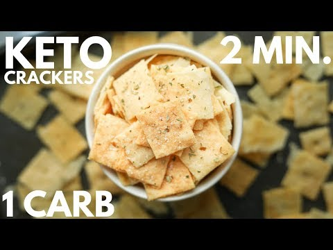 1 Carb Keto Crackers | EASY KETO RECIPES
