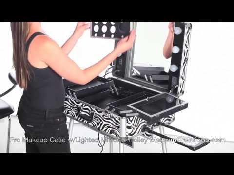 Lighted Makeup Case Pro Makeup Case With Lighted Mirror