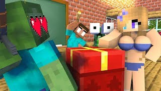 Monster School : FREE GIFT FROM HEROBRINE - Minecraft Animation