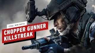 Call of Duty: Modern Warfare PC Beta Gameplay - Chopper Gunner Killstreak