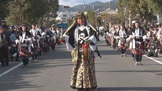 赤穂浪士が吉良上野介邸に討ち入った日に当たる14日、兵庫県赤穂市で「...