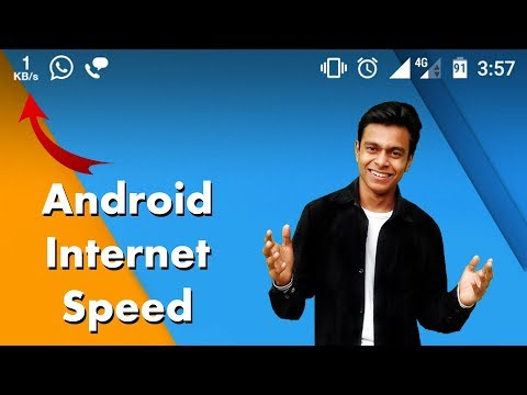 Show Internet Speed On Android Status Bar