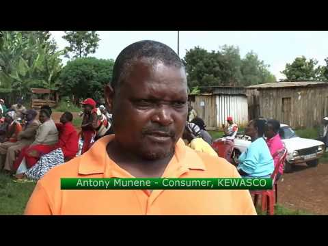 Water consumers threatens to uproot water meters due to poor services by Kyewasco