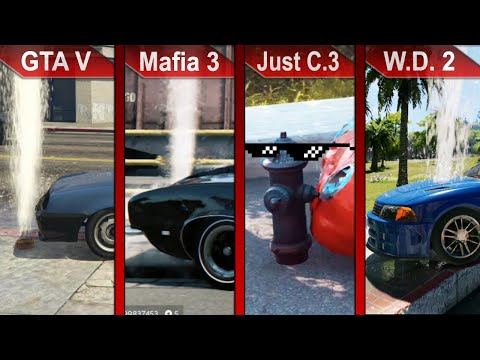 THE BIG COMPARISON 2 | GTA V vs. Mafia III vs. Just Cause 3 vs Watch Dogs 2 | PC | ULTRA