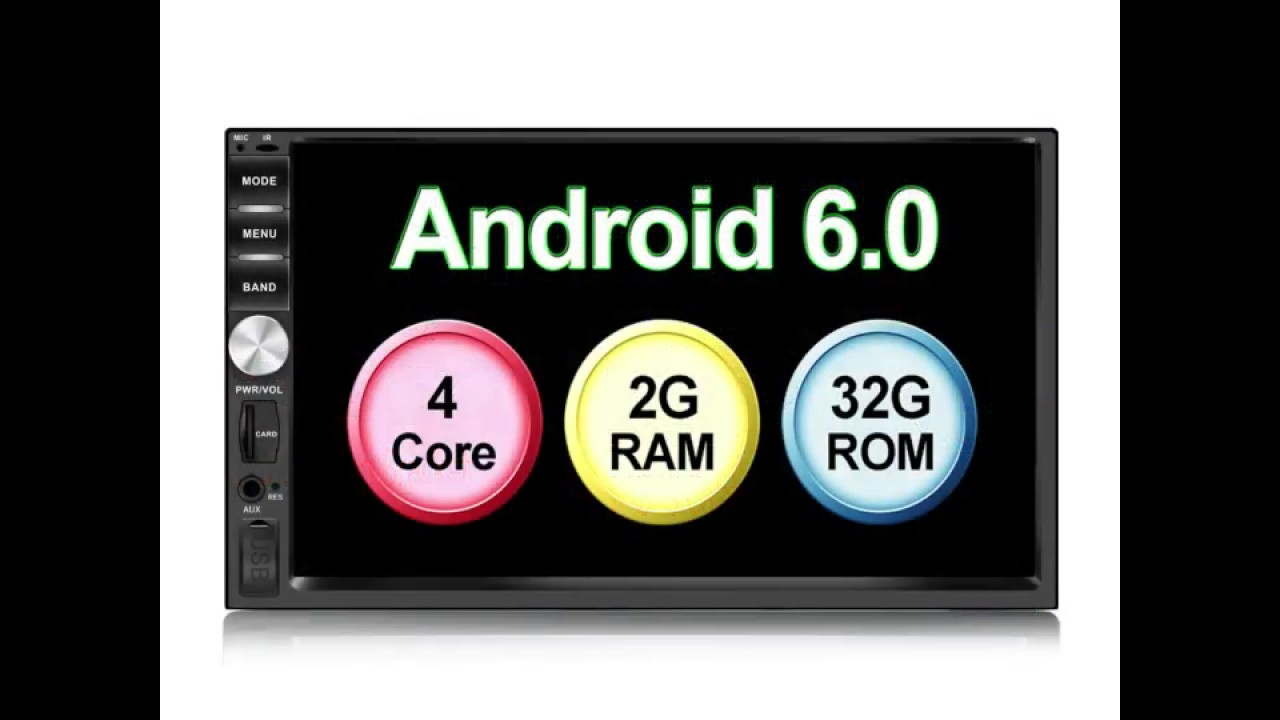 2 Din Android Car Radio GPS 2G 32G Android 6 0 Car Radio 2 din with  Bluetooth