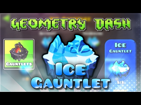 "Geometry Dash Gauntlets: ""Ice Gauntlet"" Complete [All Coins] 