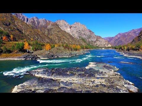 Горный Алтай. Река Катунь  в осенних красках.