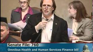Rep. Jim Abeler says omnibus HHS finance bill includes some of Governor Dayton's suggestions