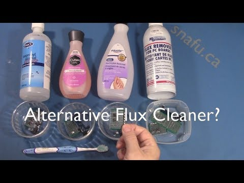 Alternative Flux Cleaner for electronics