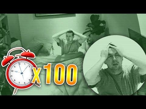 100 ALARM CLOCKS PRANK ON CALLUX (HE DIDN'T SLEEP)
