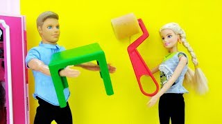 Барби и Кевин делают ремонт. Игры для девочек