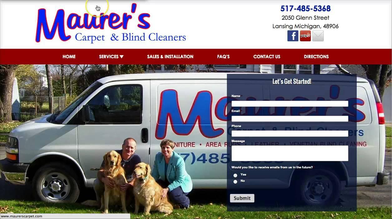 Maurer's Carpet & Blind Cleaners - YouTube