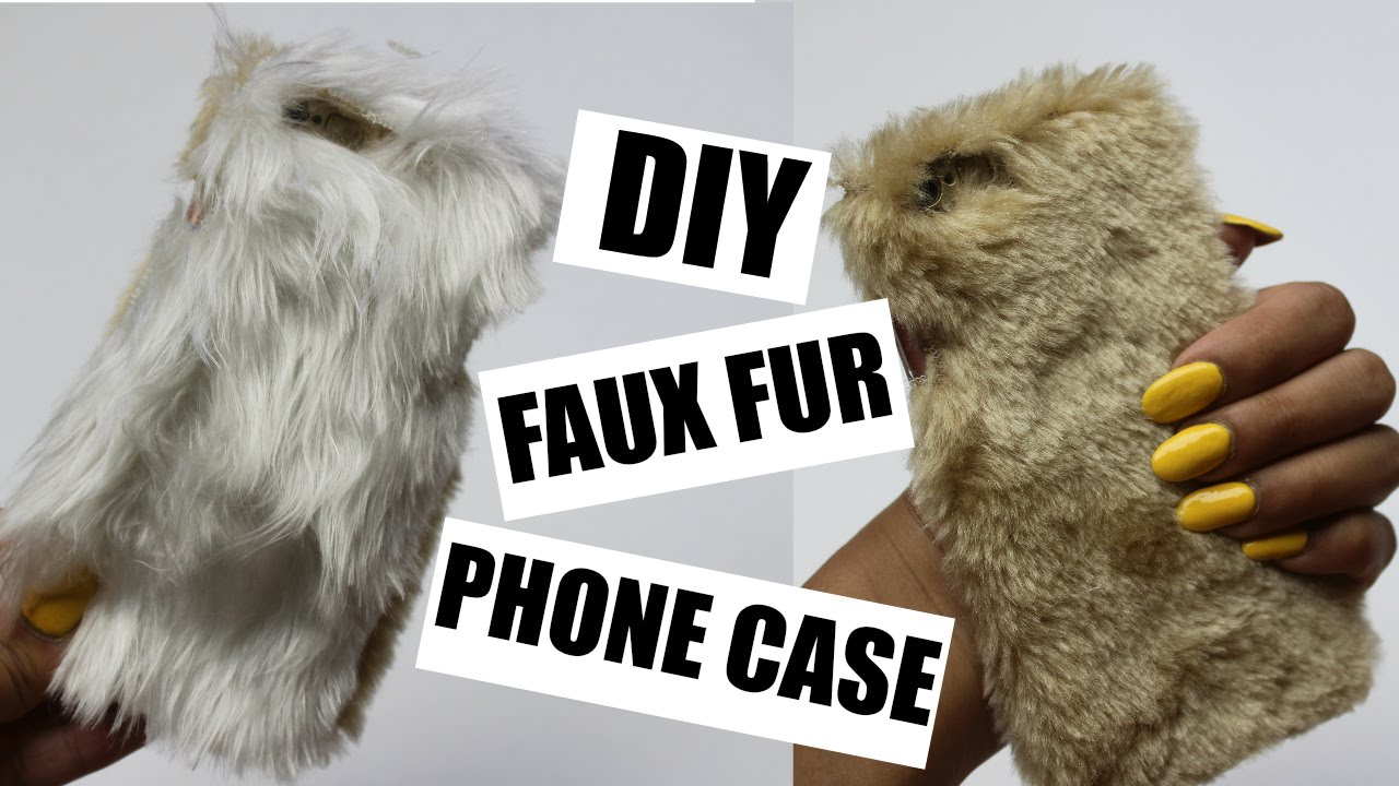 01a39d52b82f DIY FAUX FUR PHONE CASE