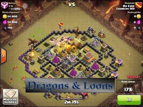 Clash of clans dragon attack strategy town hall 8 episode 1