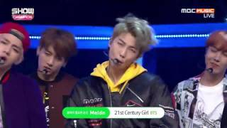 Download BTS-21st Century Girls Live @Show Champion 161019 Mp3