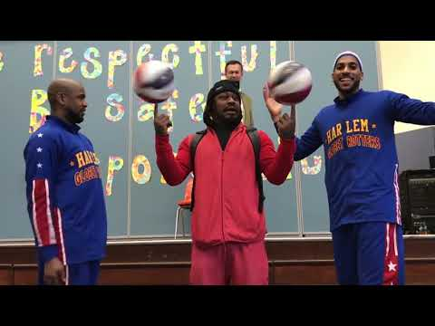 Marshawn Lynch joins Harlem Globetrotters at former school