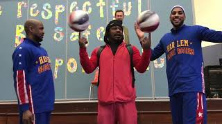 Marshawn Lynch joins Harlem Globetrotters at former school