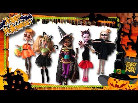 Halloween 2016. DIY 🎃👻🕷 Идеи Костюмов для кукол на Хэллоуин. Easy Halloween Costume ideas