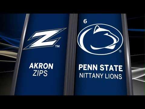 Penn State Rolls Past Akron in 2017 Opener