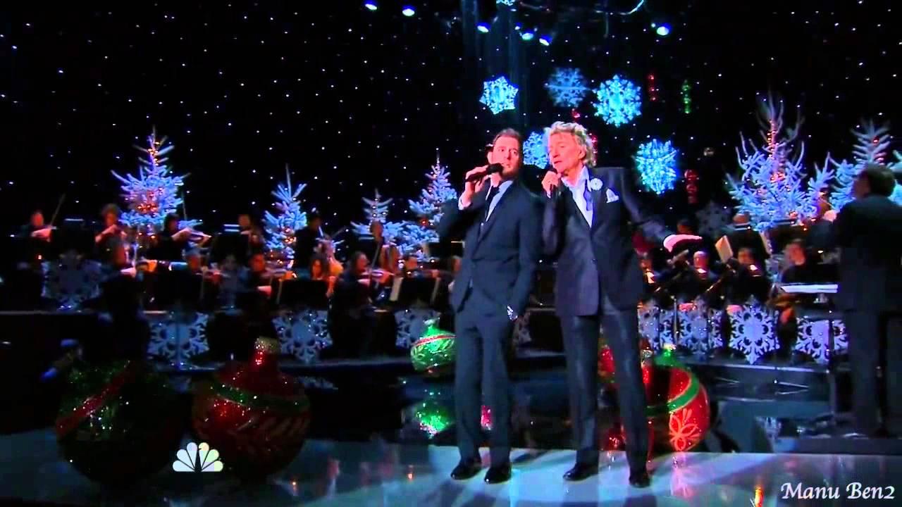 Michael Bublé & Rod Stewart - Winter wonderland (2012) - YouTube