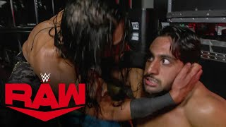 Mustafa Ali blindsides Mansoor with backstage attack: Raw, Oct. 11, 2021