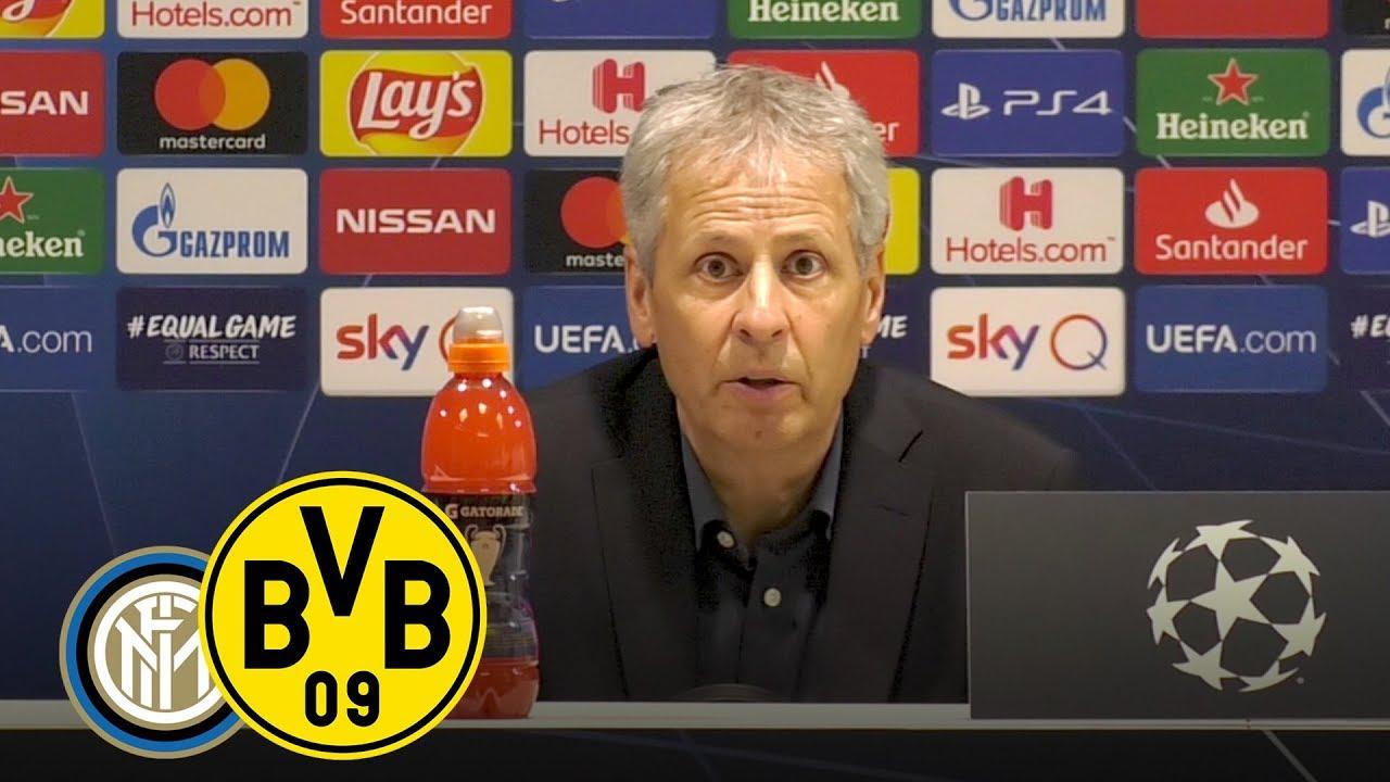 Pressekonferenz nach Inter mit Lucien Favre | Inter Mailand - BVB 2:0